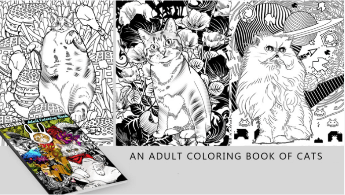 - Cats And Kickstarter Coloring Book Printing Bookmobile