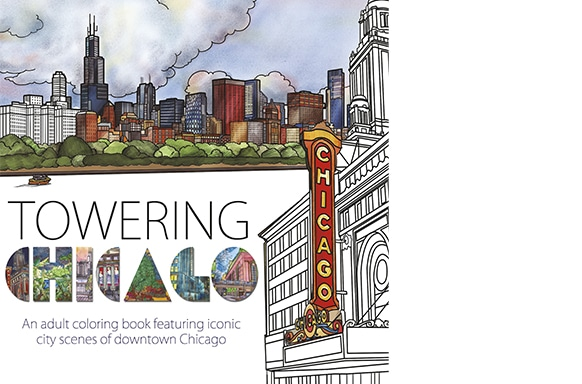 Towering Chicago, Printing a Coloring Book at Bookmobile