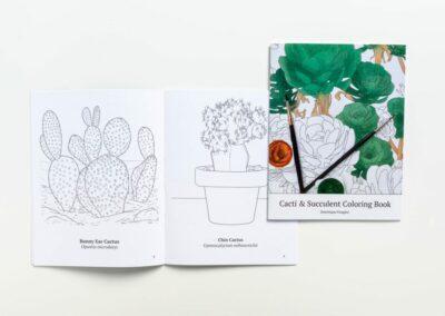 Cacti & Succulent Coloring Book